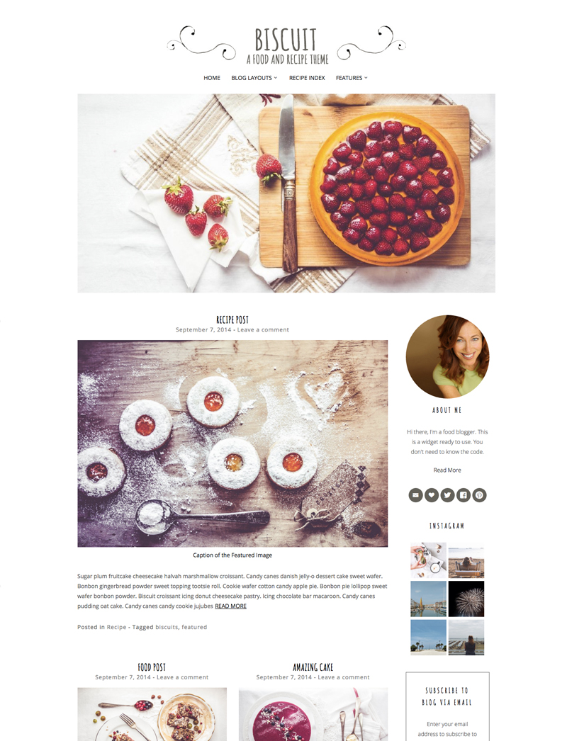 The best yummy wordpress food blog themes for recipes and bloggers biscuit wordpress food theme forumfinder Gallery