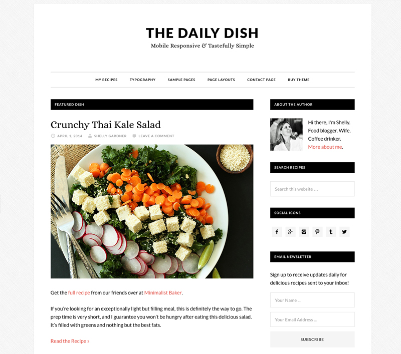 The best yummy wordpress food blog themes for recipes and bloggers daily dish forumfinder Gallery