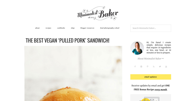 Food blog logo design ideas and headers and where to get for Blog design ideas