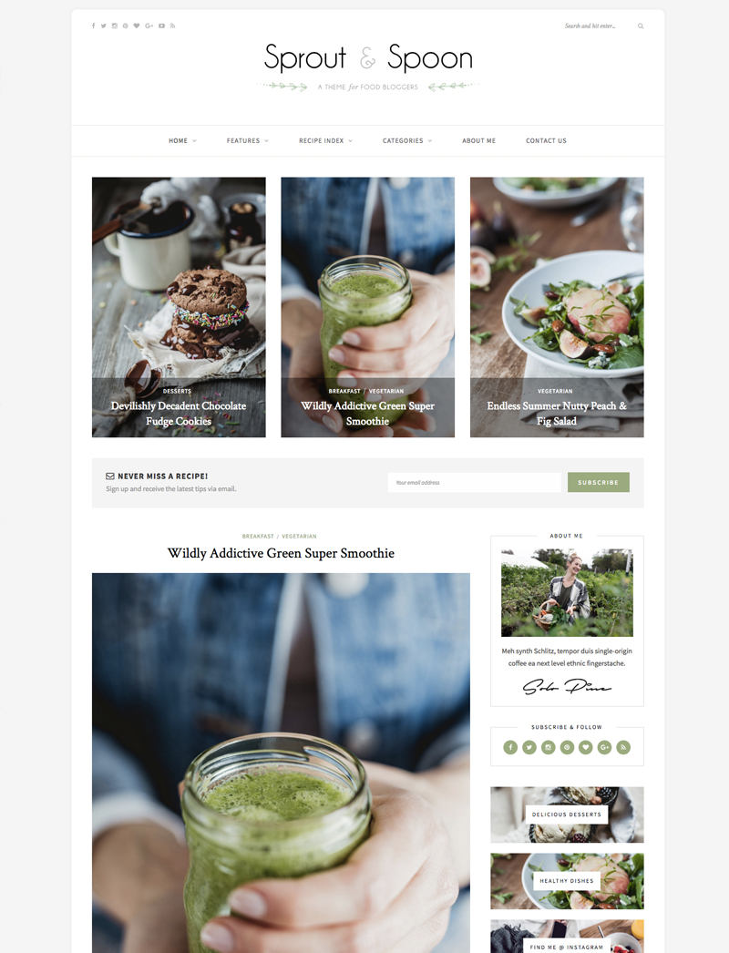 The Best Yummy Wordpress Food Blog Themes: For Recipes and ...