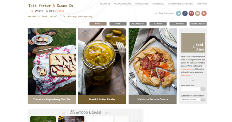 Food blog logo design ideas and headers and where to get one white on rice forumfinder Gallery